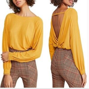 NWT Free People Long Sleeve Untamed Gold
